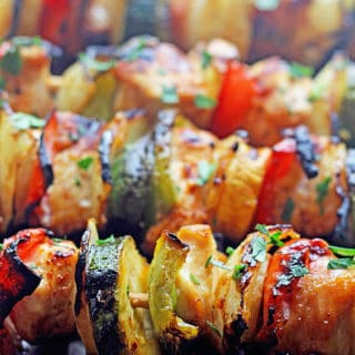 Grilled Apricot Chicken Kabobs | Grandbaby Cakes