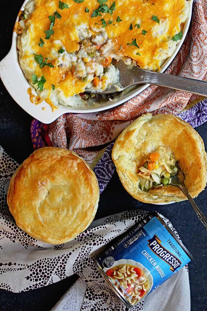 Progresso Shepherds Pie Pot Pie 4 683x1024 - Savory Pot Pie and Shepherd's Pie