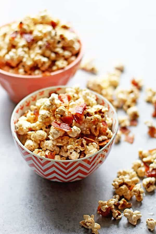 Brown Butter Maple Bacon Popcorn 1 - Brown Butter Maple Bacon Popcorn (With Video!)
