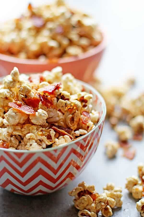 Brown Butter Maple Bacon Popcorn 2 - Brown Butter Maple Bacon Popcorn (With Video!)