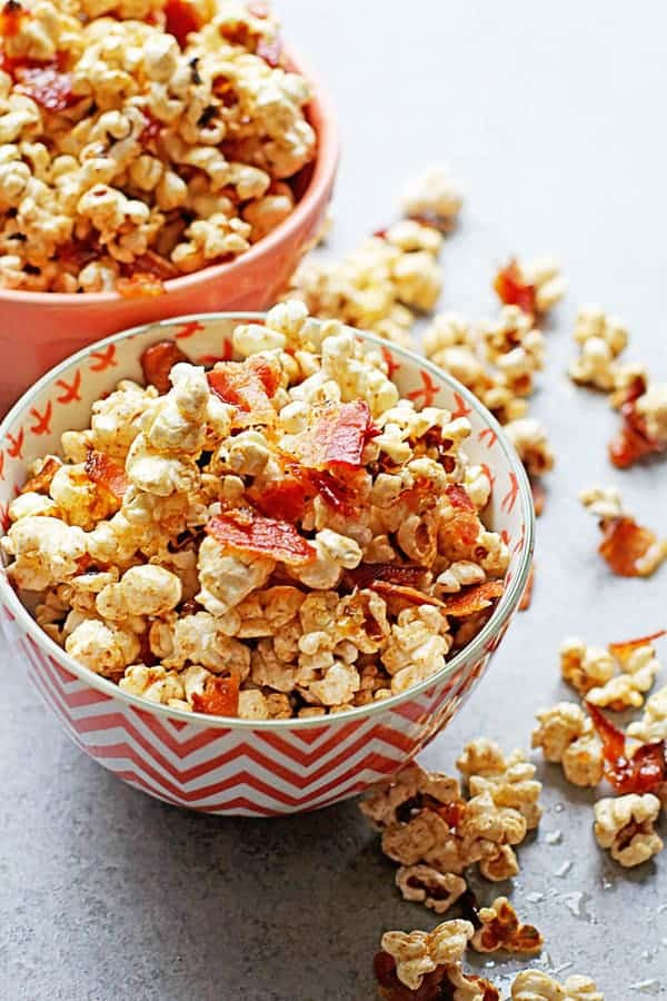Brown Butter Maple Bacon Popcorn 3 - Brown Butter Maple Bacon Popcorn (With Video!)