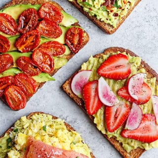 Avocado Toast 4 Ways | Grandbaby Cakes
