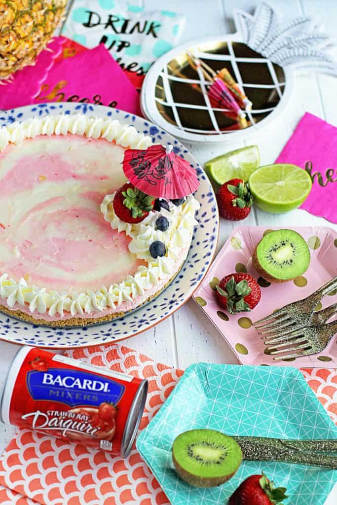 Bacardi Miami Vice Cheesecake 2 683x1024 - Miami Vice No Bake Cheesecake Recipe