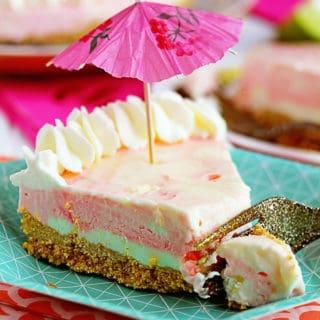 Bacardi Miami Vice Cheesecake 3 320x320 - Miami Vice No Bake Cheesecake Recipe
