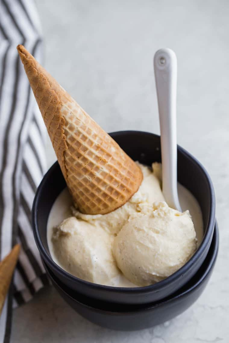Homemade Vanilla ice cream 6 - The Ultimate Meal Prep and Pantry Stock List for Quarantine