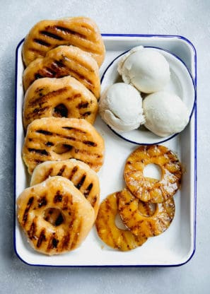 Jocelyn Grilled Pineapple Donuts 297x416 - 20+ BEST Labor Day Recipes to Make Your Holiday a Hit!!