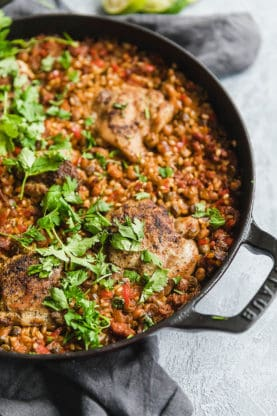 Spanish Chicken and Rice 5 277x416 - Spanish Chicken and Rice (With How To Video!)