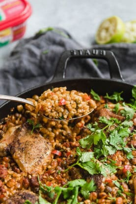 Spanish Chicken and Rice 7 277x416 - Spanish Chicken and Rice (With How To Video!)