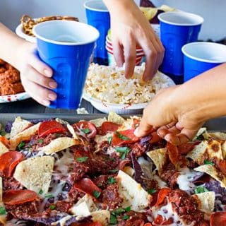 Game Day Pizza Nachos | Grandbaby Cakes