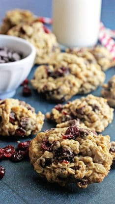Dark Chocolate and Cranberry Oatmeal Cookies 2 234x416 - Dark Chocolate and Cranberry Oatmeal Cookies