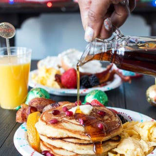 Orange Ginger Pancakes and Holiday Brunch Tips | Grandbaby Cakes