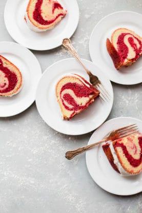 red velvet marble cake web8 277x416 - Red Velvet Marble Cake Recipe (With Video)