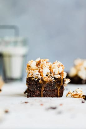 Salted Caramel Popcorn Brownies 4 277x416 - Salted Caramel Popcorn Brownies