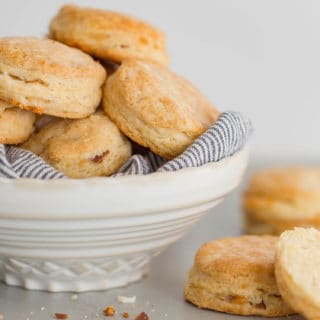 Bacon Cheddar Biscuits | Grandbaby Cakes