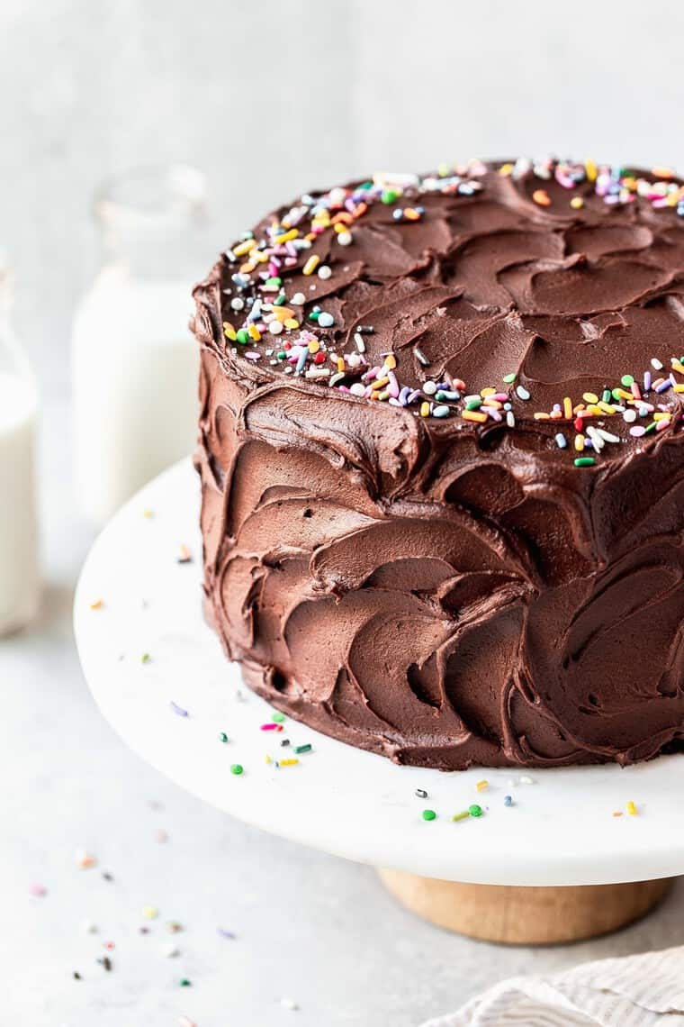 Fantastic The Best Chocolate Birthday Cake Recipe With Chocolate Frosting Funny Birthday Cards Online Aeocydamsfinfo