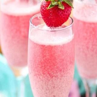 Strawberry Cream Mimosas