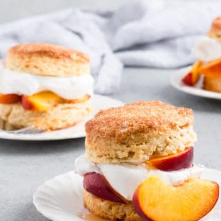 Peach Shortcake Recipe 1 320x320 - Brown Sugar Peach Shortcake Recipe