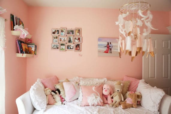 Baby Cakes' Baby Girl Nursery Design - A behind the scenes look into my daughter's nursery design along with tips and tricks to design your own. #nursery #baby #design