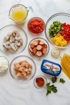 Easy Jambalaya Recipe ingredients #jambalaya