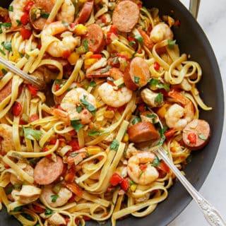 jambalaya pasta recipe web4 320x320 - Cajun Jambalaya Pasta Recipe (With How To Video!)