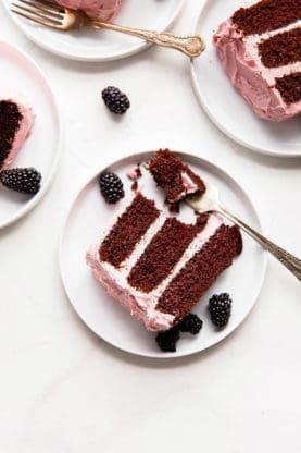 Chocolate Layer Cake Blackberry Buttercream 9 277x416 - Best Chocolate Cake Recipe with Blackberry Buttercream