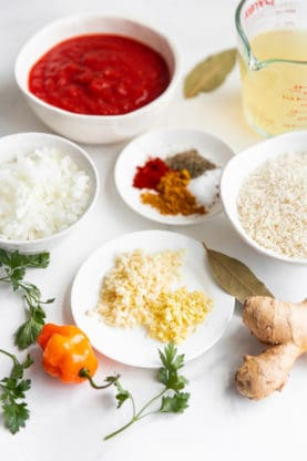 Jollof Rice recipe ingredients for How to Make Jollof Rice