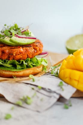 Mango Jerk Salmon Burger 2 277x416 - Mango Jerk Salmon Burgers Recipe