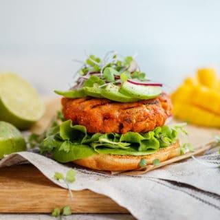 Mango Jerk Salmon Burgers Recipe | Grandbaby Cakes