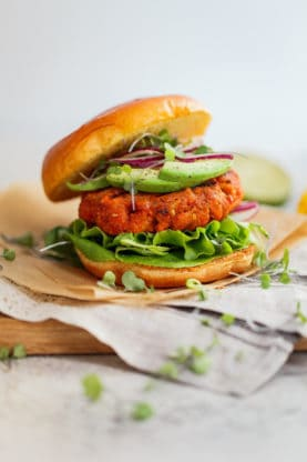 Mango Jerk Salmon Burger 6 277x416 - Mango Jerk Salmon Burgers Recipe