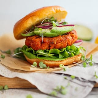 Mango Jerk Salmon Burger 6 320x320 - Mango Jerk Salmon Burgers Recipe