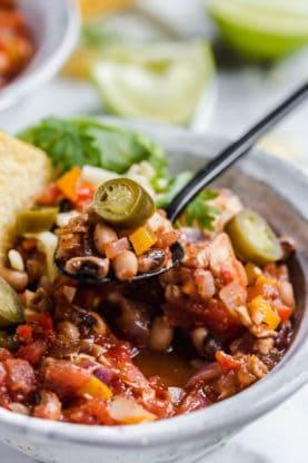 Chicken Chili Black Eyed Peas Recipe 3 277x416 - Chicken Chili with Black Eyed Peas Recipe