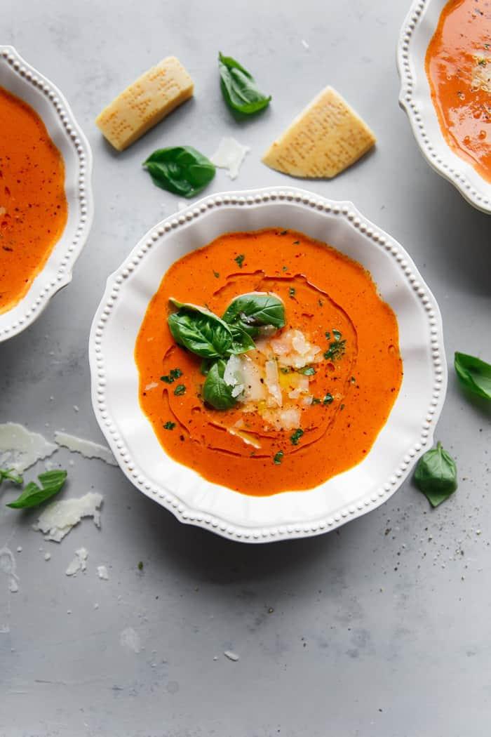 Homemade Tomato Basil Soup Recipe Instant Pot Grandbaby