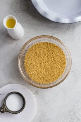 All Ingredients to learn how to make graham cracker crust recipe