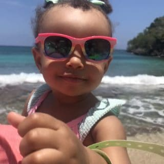 Harmony smiling in Ocho Rios 320x320 - Cruising with a Toddler