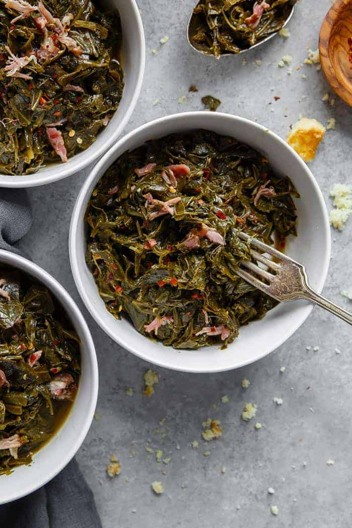 delicious collard greens recipe ready to eat for New Year's food