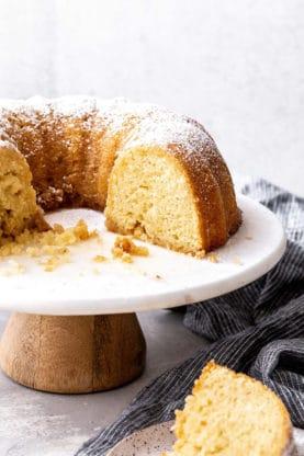 Kentucky Butter Cake Recipe 4 277x416 - Kentucky Butter Cake Recipe with Brown Butter Glaze!