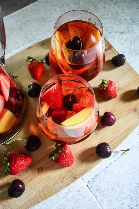 Summer Fruit Rose Sangria