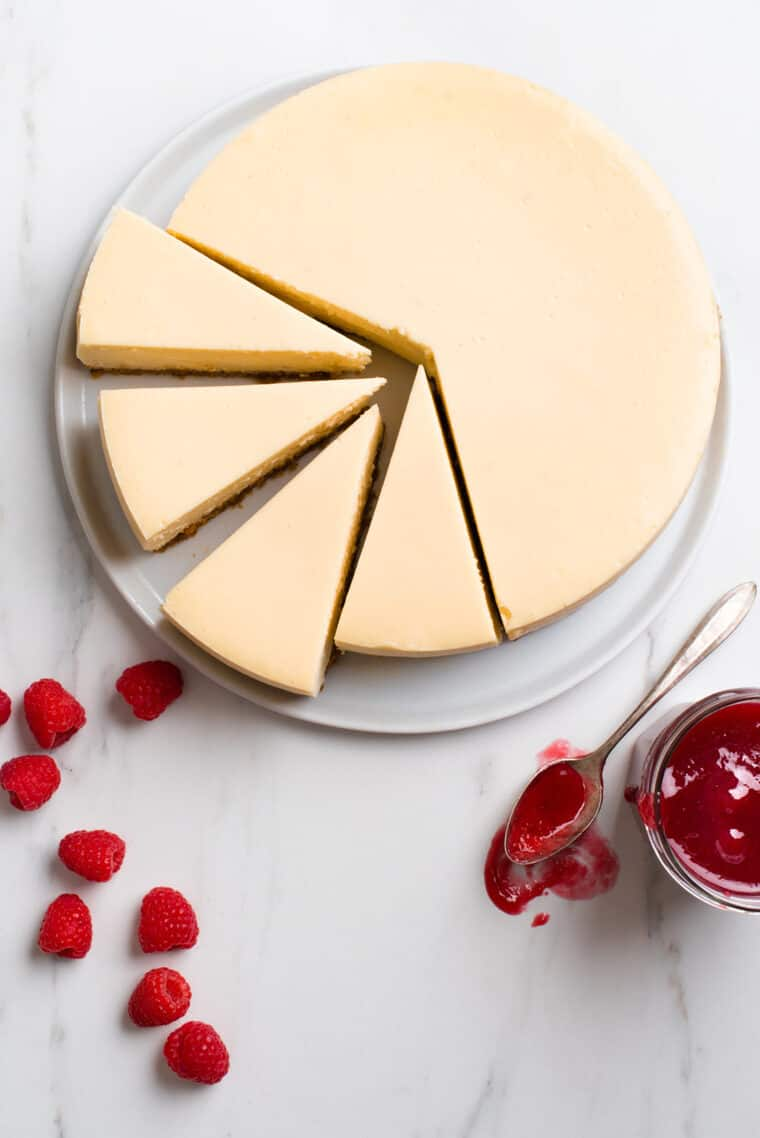 New York Cheesecake Recipe 1 e1567098366118 - The BEST Vanilla New York Cheesecake Recipe ONLINE! (Silky, Smooth and NO CRACKS!)