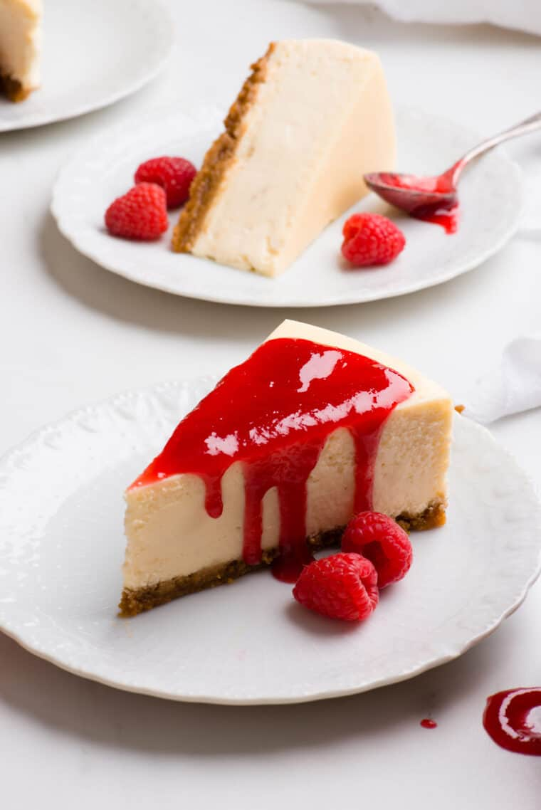 New York Style Cheesecake 2 e1567098475659 - The BEST Vanilla New York Cheesecake Recipe ONLINE! (Silky, Smooth and NO CRACKS!)