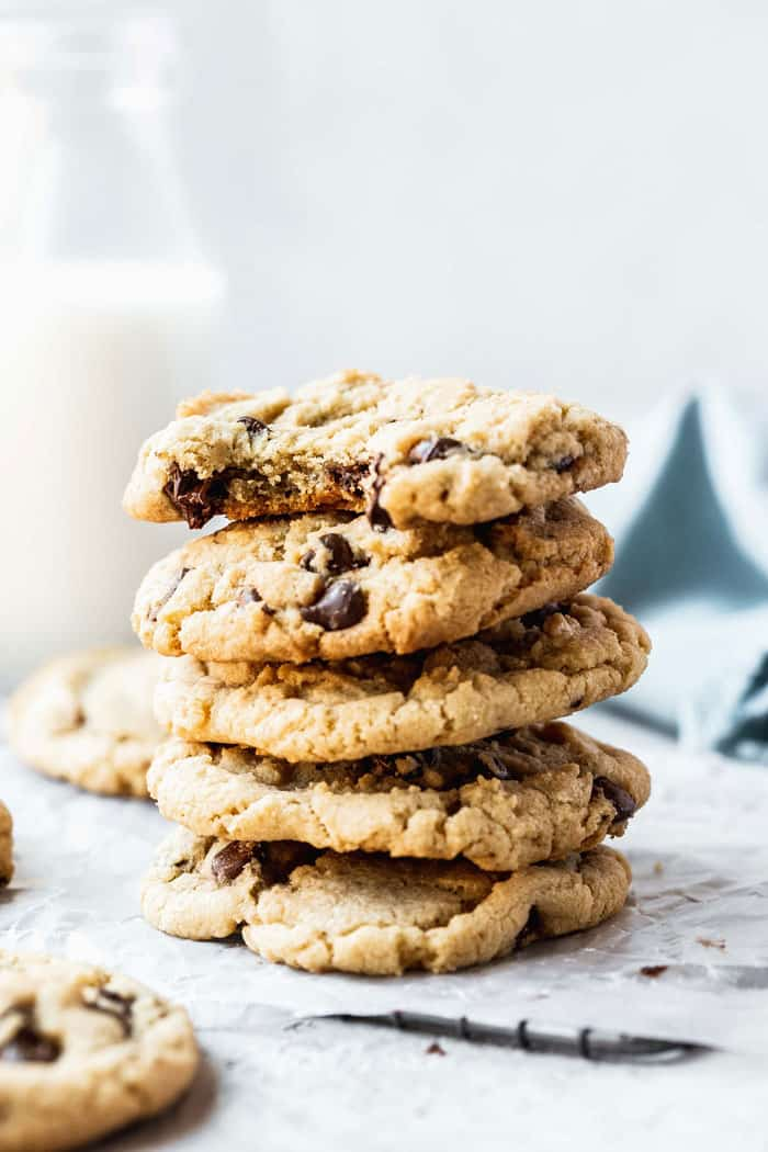 A stack of Gluten-free cookies ready to serve