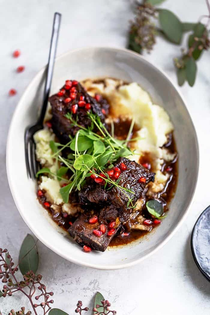Pomegranate braised short ribs 2 - New Year's Day Food Traditions