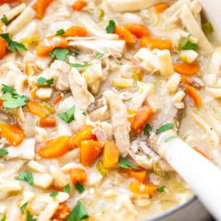 Creamy Chicken Noodle Soup 1 320x320 - Creamy Chicken Noodle Soup Recipe