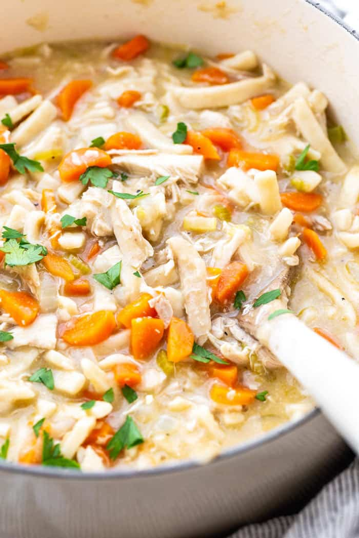 Creamy Chicken Noodle Soup 1 - The Ultimate Meal Prep and Pantry Stock List for Quarantine