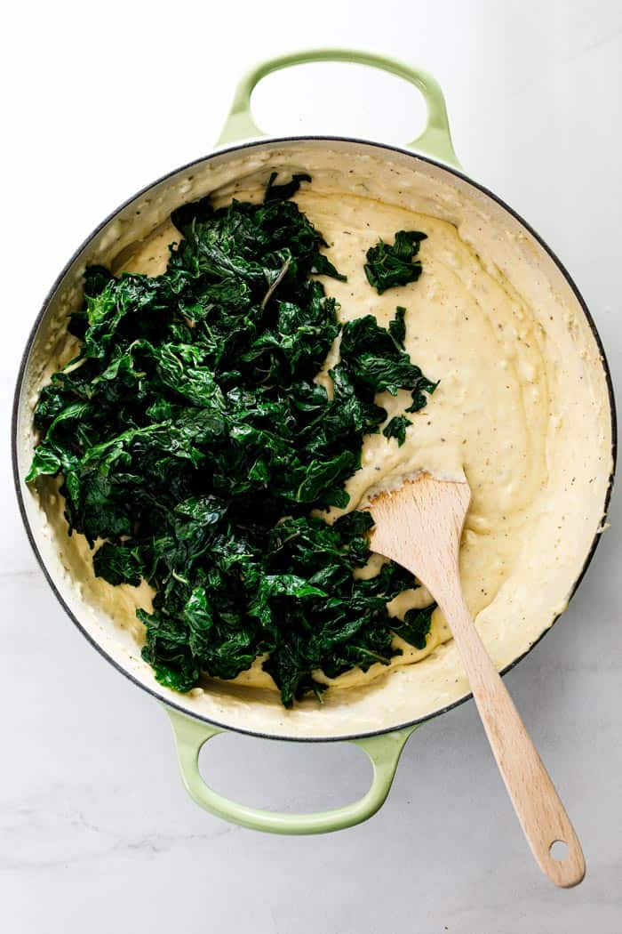 Creamed spinach 2 - Creamed Spinach