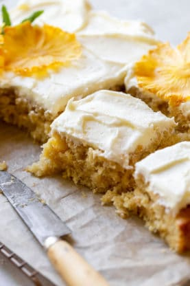 Pineapple Sheet Cake 2 277x416 - Pineapple Sheet Cake (Lighter and Full Fat Version)