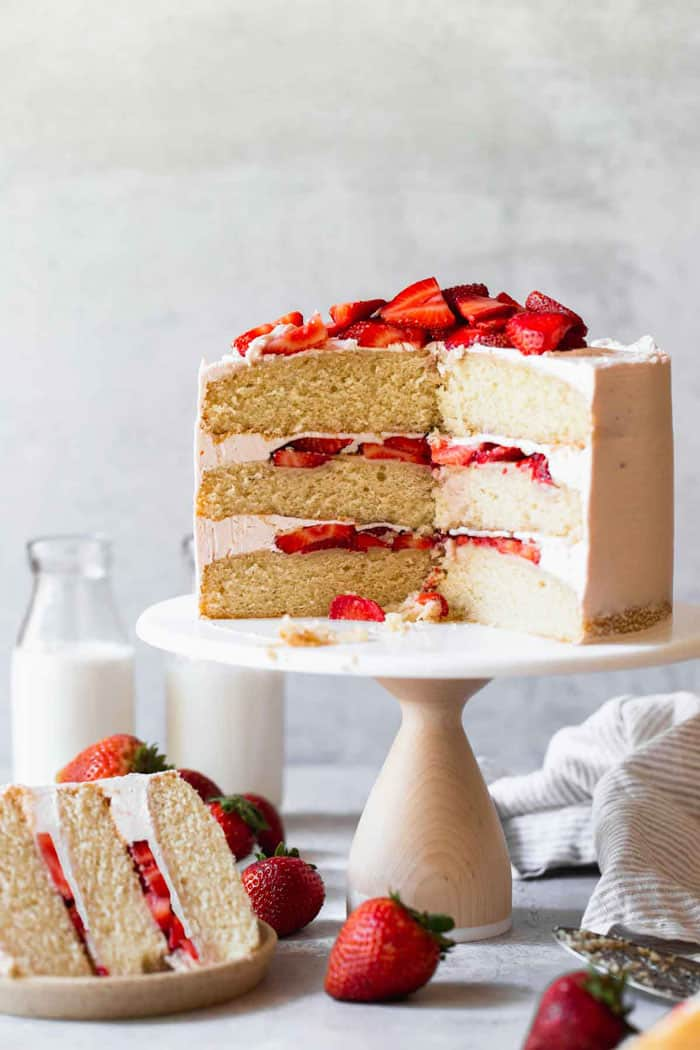 Strawberry Shortcake Cake - Grandbaby Cakes