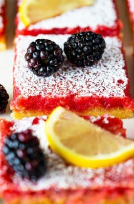 Blackberry lemon bars 6 274x416 - Blackberry Lemon Bars