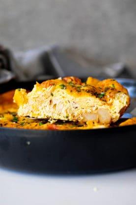 Frittata 1 277x416 - Cheesy Chicken Potato Frittata
