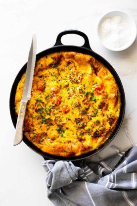 Frittata 3 277x416 - Cheesy Chicken Potato Frittata