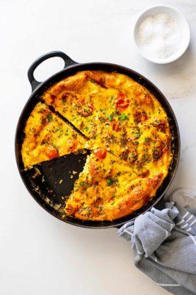 Frittata 4 277x416 - Cheesy Chicken Potato Frittata